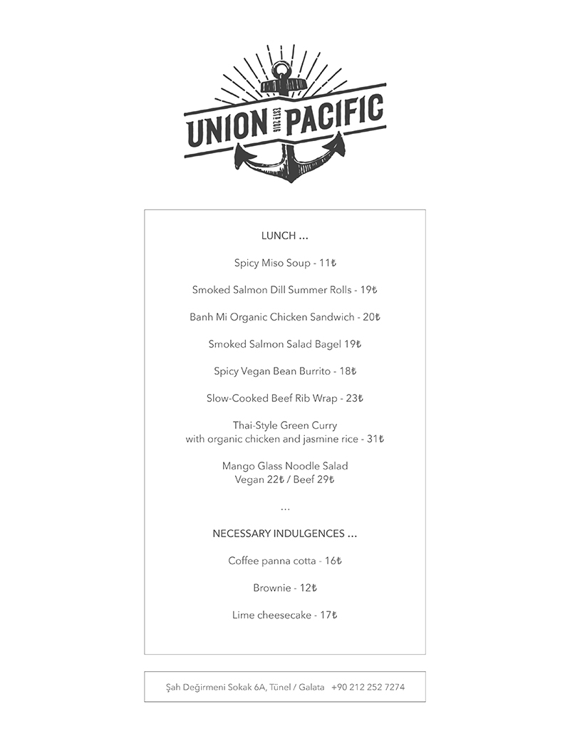 Lunch Menu (October)